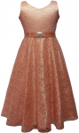 GIRLS CASUAL DRESSES  (0232321) PEACH
