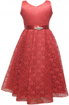 GIRLS CASUAL DRESSES  (0232321) RED
