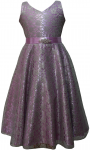 GIRLS CASUAL DRESSES  (0232321-1) LILAC/GRAY