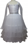 GIRLS CASUAL DRESSES  (0232322) WHITE