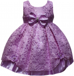 GIRLS CASUAL DRESSES W/ BOW (LILAC)