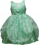 GIRLS CASUAL DRESSES W/ BOW (MINT)