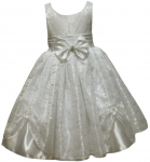 GIRLS CASUAL DRESSES W/ BOW (WHITE)