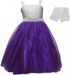 GIRLS CASUAL DRESSES  (0232325) WHT/PURPLE