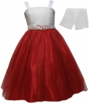 GIRLS CASUAL DRESSES  (0232325) WHT/RED