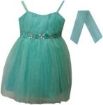 GIRLS COLOR DRESSES (0232327) AQUAGREEN
