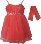 GIRLS COLOR DRESSES (0232327) CORAL