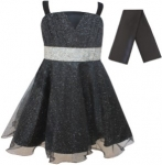 GIRLS COLOR DRESSES (0232331) BLACK