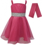 GIRLS COLOR DRESSES (0232331) FUSHIA