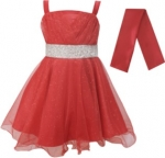 GIRLS COLOR DRESSES (0232331) RED