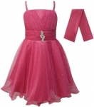 GIRLS COLOR DRESSES (0232332) FUSHIA