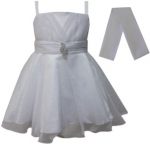 GIRLS COLOR DRESSES (0232332) WHITE