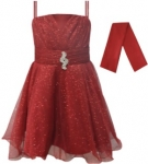 GIRLS COLOR DRESSES (0232332) WINE