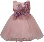 GIRLS CASUAL DRESSES (0232338) BLUSH PINK