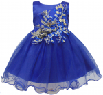 GIRLS CASUAL DRESSES (0232338) ROYAL BLUE