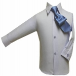 Boys Shirt w/ Tie and Hanky-(B.Blue/Blue)