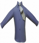 Boys Shirt w/ Tie and Hanky-(French Blue/French Blue)