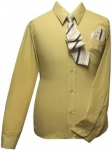 Boys Shirt w/ Tie and Hanky-(Banana/Banana)
