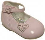 Dress Shoe w/ Heart on Side and On Strap-Velcro
