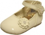 Dress Shoe w/ Flower on Side and Strap- Velcro