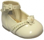 High Top Shoe w/ Beads and Flower in Middle
