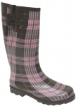 Ladies Rain Boots w/ Burberry Print