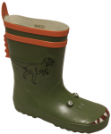 KIDS DINOSAUR RAINBOOTS  (GREEN)