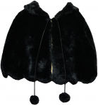 GIRLS FANCY FUR CAPES (BLK)