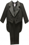 BOYS CHRISTENING TUXEDOS W/TAIL (BLACK) 0512240