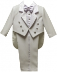 BOYS CHRISTENING TUXEDOS W/ PAISLEY (WHITE) 0512241