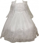 Girls Christening Dress 0515430-White