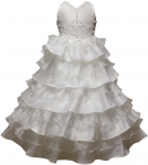 GIRLS FANCY COMMUNION DRESSES (WHITE) 0515486
