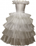 Flower Girl Dress-0515488White