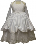 Girls Communion Design Scarf Dress