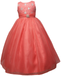 GIRLS CASUAL DRESSES  (0515565) CORAL