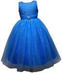 GIRLS DRESSES W/BROACH (TURQ)