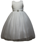 GIRLS COMMUNION DRESSES (0515584) WHITE