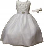 GIRLS FANCY DRESSES (WHT)