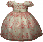 GIRLS DRESSES (BEIGE/PINK)