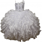 GIRLS COMMUNION DRESSES RUFFLES
