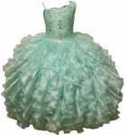 GIRLS RUFFLE DRESSES W/ BEADS ON TOP (MINT)