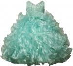 GIRLS RUFFLE DRESSES W/TAIL (MINT) 0515598