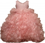 GIRLS RUFFLE DRESSES W/TAIL (PINK) 0515598