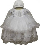 Girls Dress w/ Designs Virgin Bonnet Hat