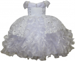 GIRLS CHRISTENING RUFFLE DRESS