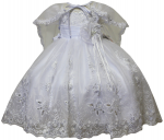 GIRLS CHRISTENING DRESS W/ CAPE