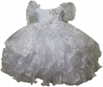 GIRLS CHRISTENING RUFFLE DRESSES