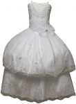 GIRLS COMMUNION DRESSES W/ DETACHABLE SKIRT