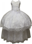 GIRLS COMMUNION DRESS W/ DETACHABLE SKIRT