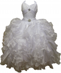 GIRLS COMMUNION DRESSES W/ BROACH